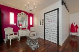 Hot Pink Wall, Writing on Door